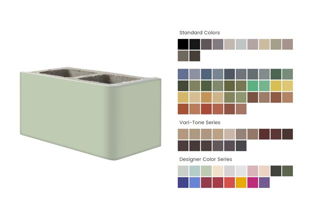 Spectra Glaze blocks come in a wide varaity of colors.